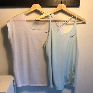 Two for one! Nike tops to layer blue and white!